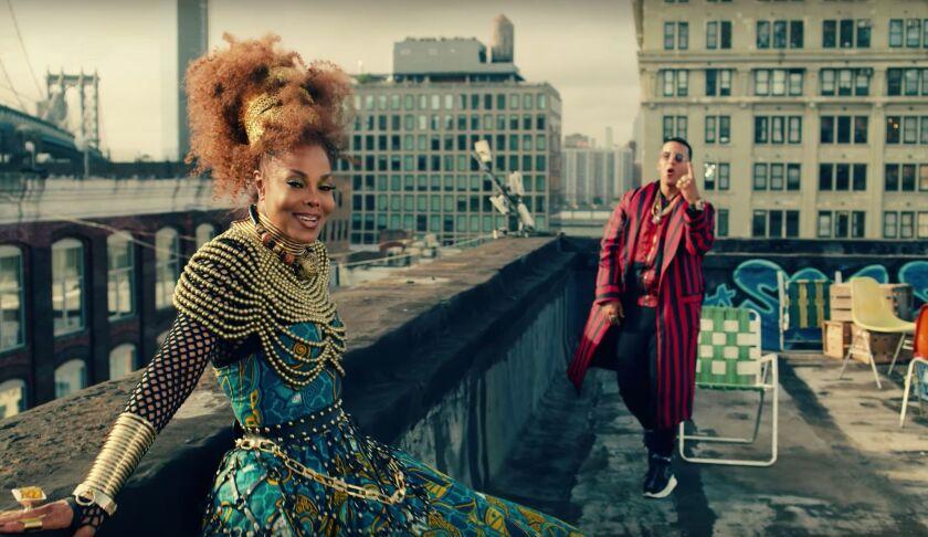 """Janet Jackson y Daddy Yankee aparecen en una de las locaciones de Nueva York que se usaron para el video """"Made For Now""""."""