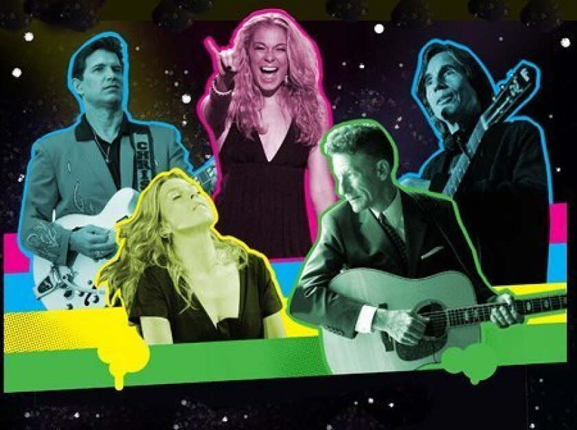 This year's Humphrey's acts include Chris Isaak (left), Diana Krall, LeAnn Rimes, Lyle Lovett and Jackson Browne.