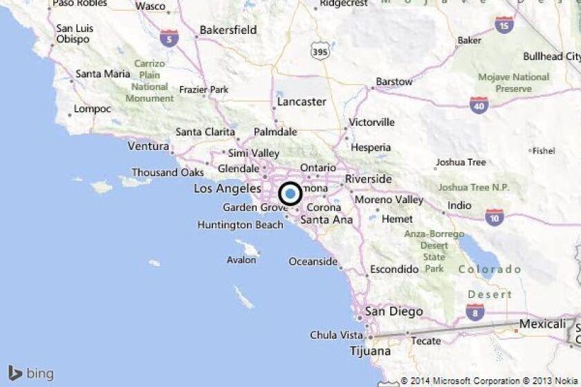 Earthquake: 2.5 temblor strikes near East La Mirada