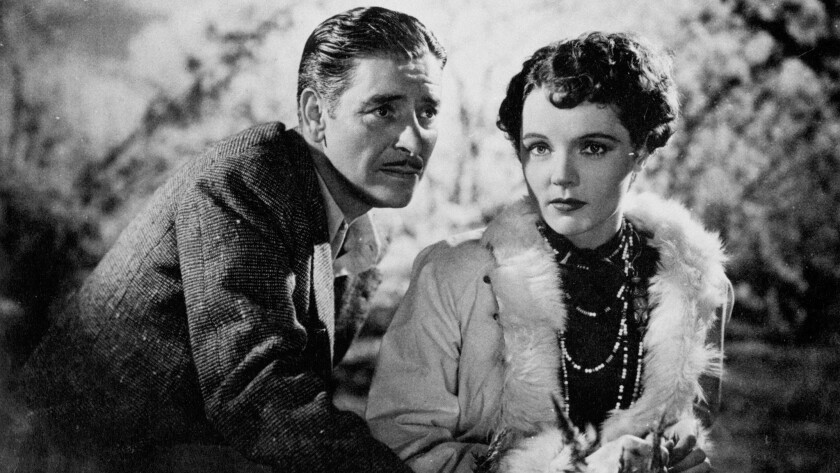 "Ronald Colman and Jane Wyatt in ""Lost Horizon"""