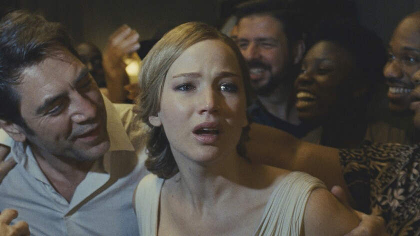 """Jennifer Lawrence in a scene from """"mother!"""""""