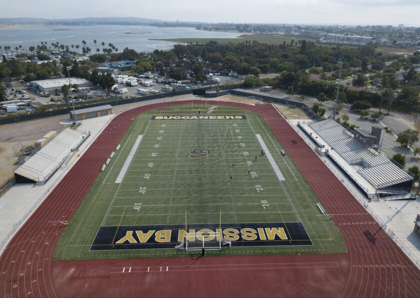 Football at Mission Bay High and elsewhere in California received new guidelines for when it can return.