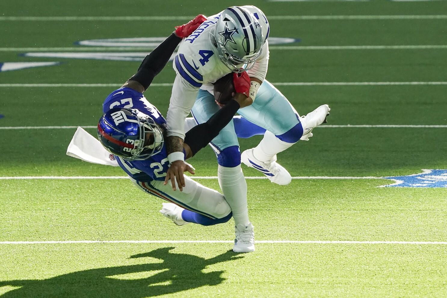 Prescott Injured Dalton Leads Cowboys Past Giants The San Diego Union Tribune