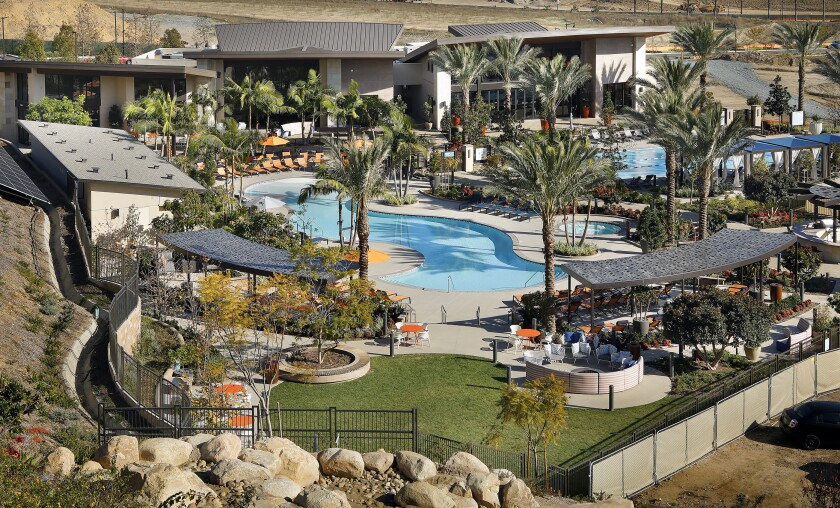 Civita's 2.5-acre resort-style rec center features a lagoon pool and lap pool and the 14-acre Civita Park with trails and a dog park.