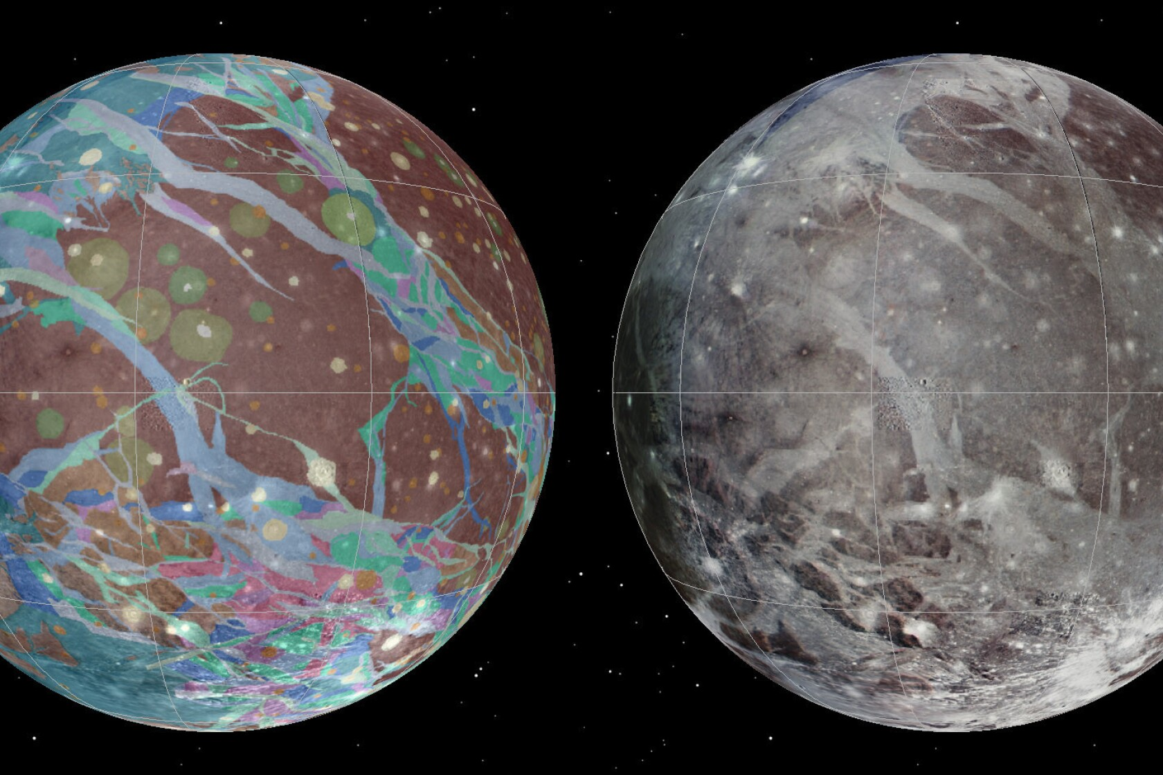 Ganymede mapped: See best map yet of our solar system's ... on freezing moon, satellite map of earth, detailed map of the moon, globes of the moon, old maps of the moon, colonization of the moon, earth orbiting the moon, satelite view from moon, google moon, terrain of the moon, temperature of the moon, atlas of the moon, labeled map of the moon, inner core of the moon, satellite engineer, gps of the moon, far side of the moon, satellite map of california, space maps of the moon, live feed of the moon,