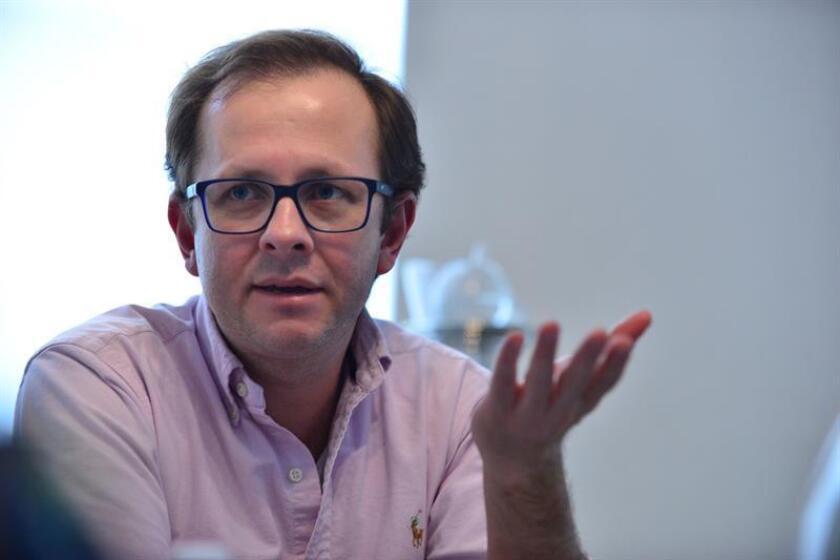 El exministro colombiano Andrés Felipe Arias durante una entrevista. EFE/Archivo