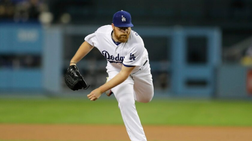 Dodgers pitcher Brett Anderson throws during the first inning of a game against the Colorado Rockies on Sept. 22.