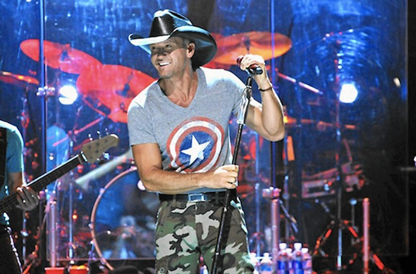 Country singer Tim McGraw entertains at the Irvine Meadows Amphitheater in 2014, when it was known as the Verizon Amphitheater.