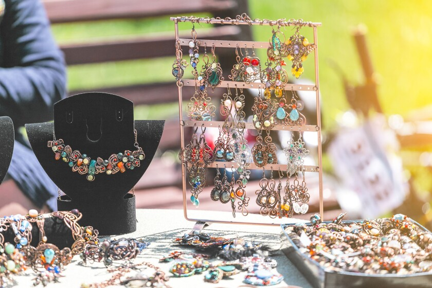 jewelry at a craft fair