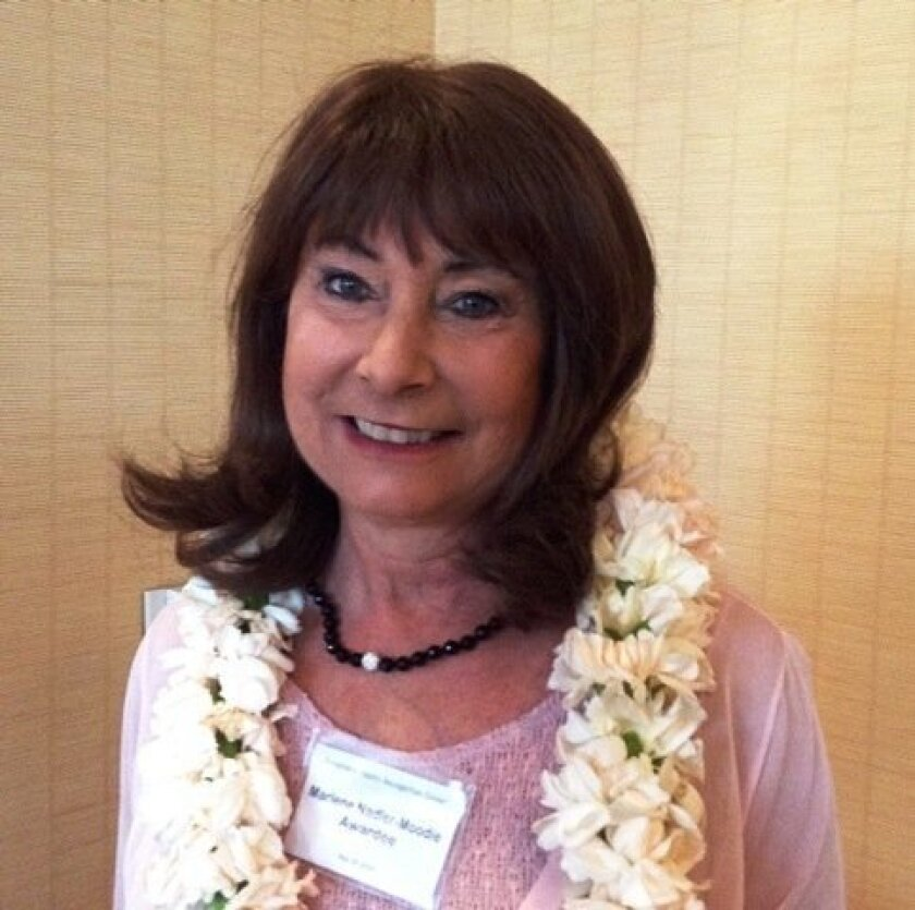 Marlene Nadler-Moodie was named the Behavioral Health Person of the Year for San Diego County.
