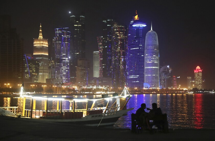Waterfront promenade in Doha, Qatar