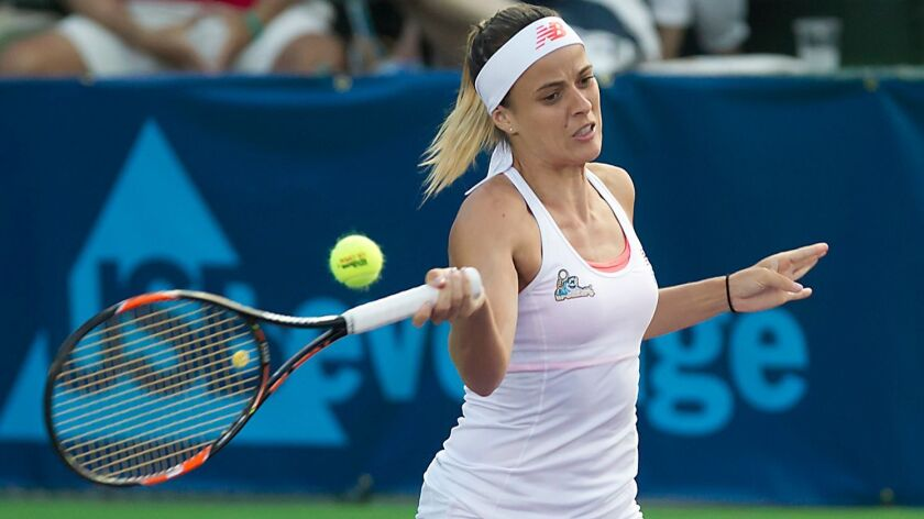 Nicole Gibbs of the Orange County Breakers, shown in action on Aug. 5, 2016, is entered into the Oracle Challenger Series tournament that begins Jan. 20 at the Newport Beach Tennis Club.