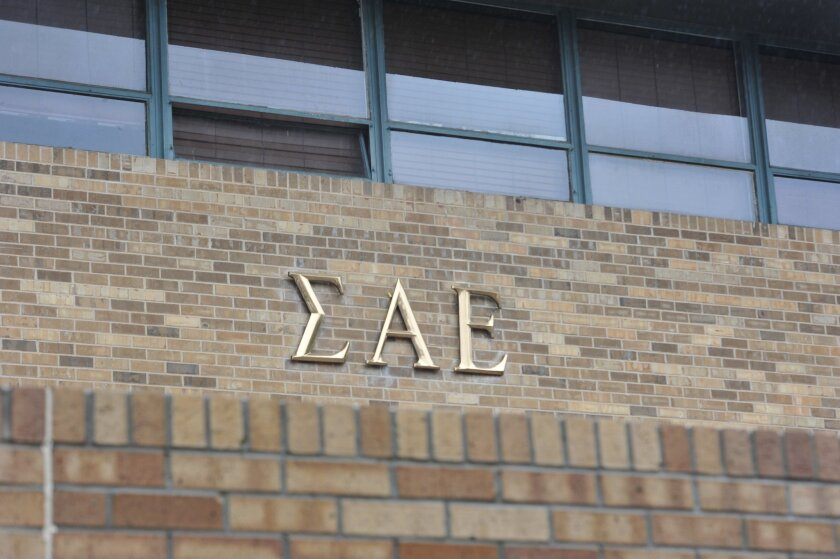 The Sigma Alpha Epsilon house at the University of Oklahoma in Norman, Okla. The SAE fraternity has been banned from campus.