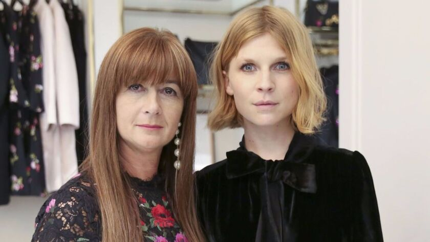 Deborah Lloyd and Clemence Poesy at the Kate Spade party during Paris Fashion Week.