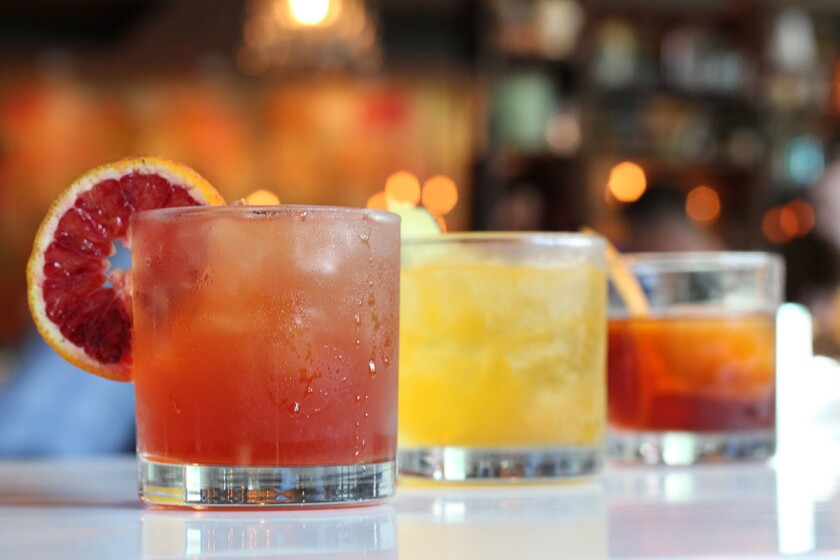 Featured Negroni cocktails from Urban Kitchen Group. (Courtesy photo)