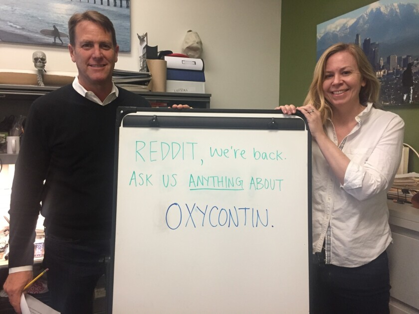 We're back with our third OxyContin investigation. Join Matt Lait and Harriet Ryan on Reddit this Tuesday, Dec. 20 at noon.