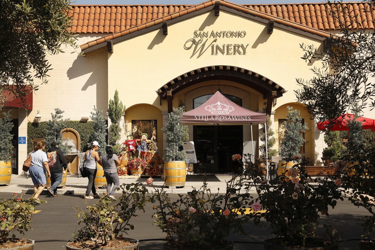 The entrance to the historic San Antonio Winery in Lincoln Heights near downtown Los Angeles.