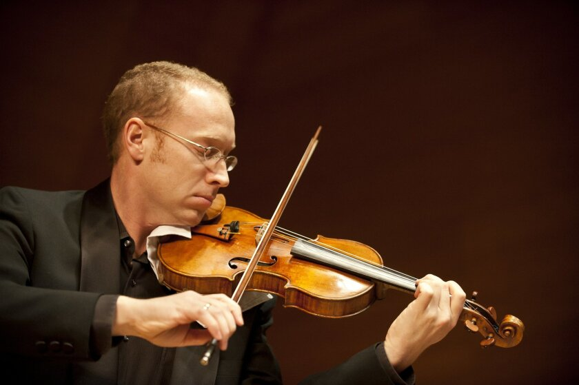 Jeff Thayer, concertmaster of the San Diego Symphony