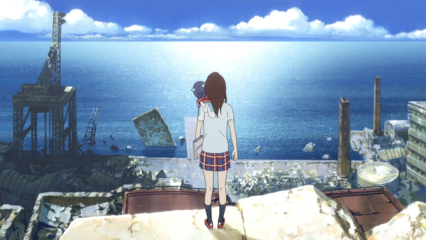 """A scene from the Japanese animated film """"Napping Princess"""" movie."""