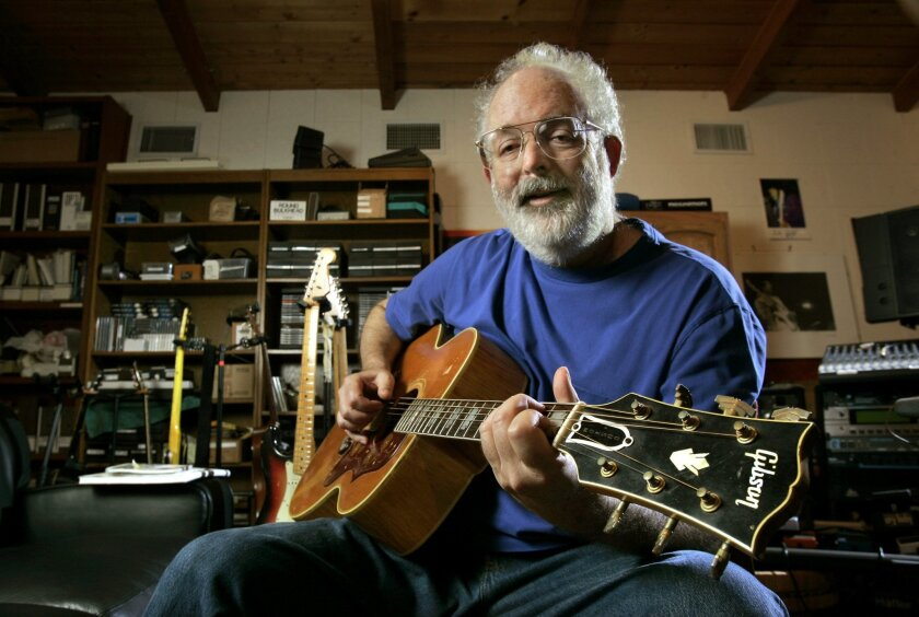 Guitar Trader, a pillar of the San Diego music scene, needs $500,000 or it will have to close, owner Eric Denton said this week. The store is well-known among music royals like singer-songwriter Jack Tempchin, pictured here, who co-wrote several of the Eagles' greatest hits.