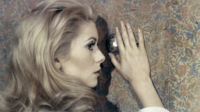 "Catherine Deneuve in a scene from the movie ""Belle du Jour."" Credit: RAYMOND VOINQUEL/ Janus Films"