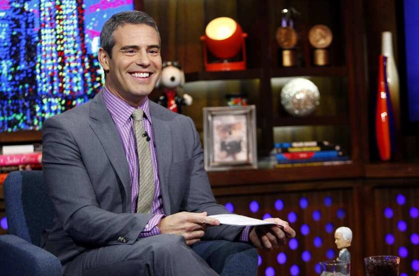 Andy Cohen on the set of