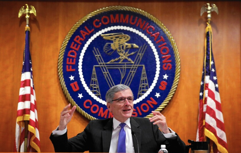 FCC Chairman Tom Wheeler proposed to reclassify Internet service providers in the same legal category as more highly regulated phone companies to give the agency the authority to promulgate net neutrality rules.