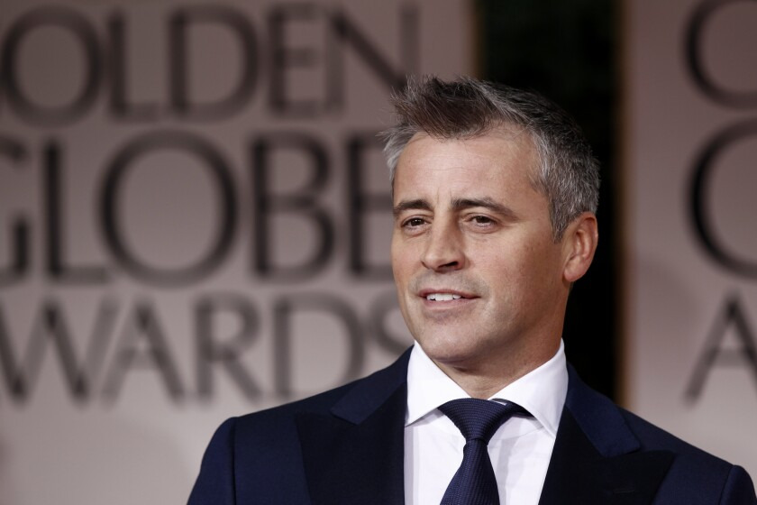 """Matt LeBlanc as he arrives at the 69th Annual Golden Globe Awards in Los Angeles. The BBC announced that LeBlanc will be joining the broadcaster's popular """"Top Gear"""" program, presenting the revamped car show with British TV presenter Chris Evans."""