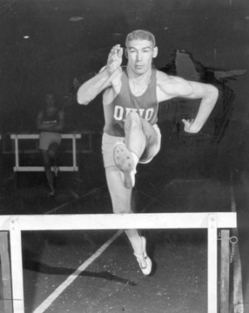 """Hurdler Glenn """"Jeep"""" Davis, who won gold medals at the 1956 and 1960 Summer Olympics, received the Sullivan Award as the nation's top amateur athlete in 1958."""