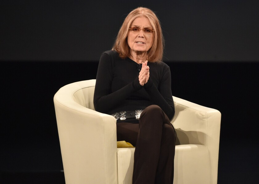 Gloria Steinem last week in Rancho Palos Verdes.