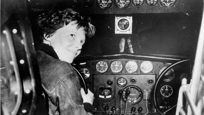 Amelia Earhart prior to last take off