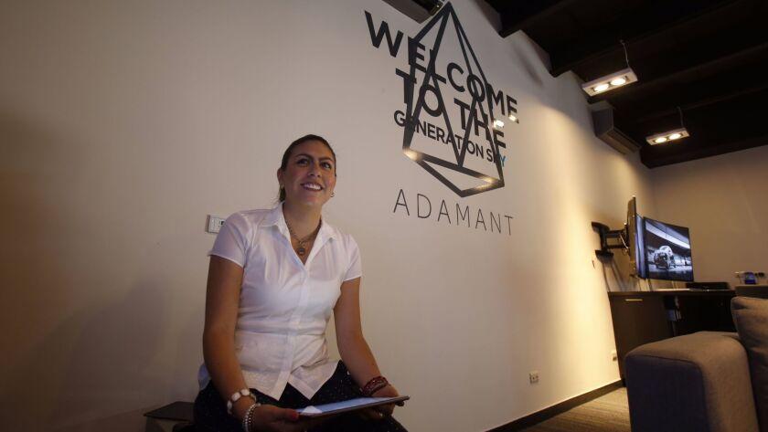 Abril Rodriguez Commercial Director for Adamant explains the building.