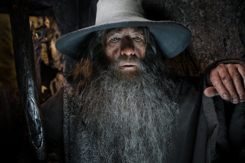 "This image released by Warner Bros. Pictures shows Ian McKellen in a scene from ""The Hobbit: The Desolation of Smaug.""  ""The Hobbit: The film directed by Peter Jackson is expected to top the last weekend of Hollywood's record year at the box-office. (AP Photo/Warner Bros. Pictures, Mark Pokorny)"