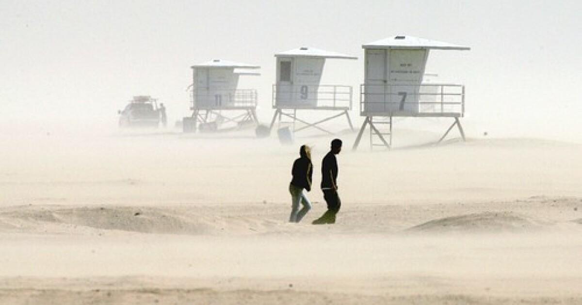 高風、温度が低いときシャワーの予測L.A.域