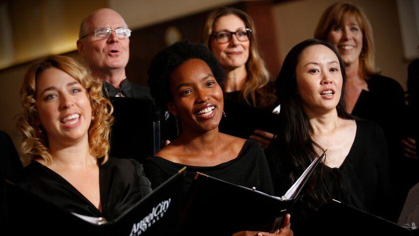 Angel City Chorale photo shot on Saturday, November 21, 2015 in Los Angeles, California. Photo by Da