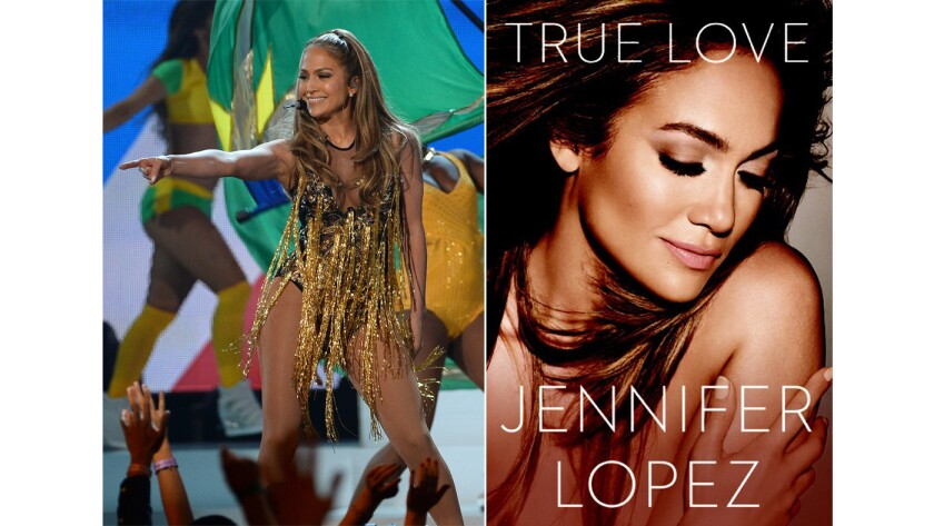 Jennifer Lopez will release a new book about the challenges of art and motherhood this October. Above, Lopez onstage during the 2014 Billboard Music Awards in Las Vegas and the cover of the upcoming book.