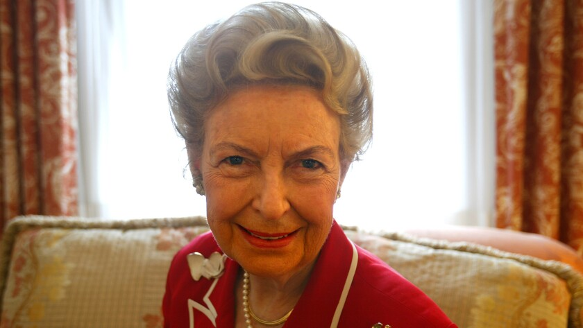 Phyllis Schlafly photographed in her hotel room in 2004 during Republican National Convention.