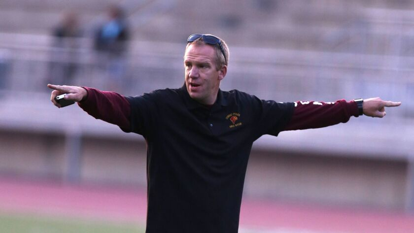 February, 11, 2014,San Diego, CA. USA. | Torrey Pines Head Girls Soccer Coach Martyn Hansford. | Pho