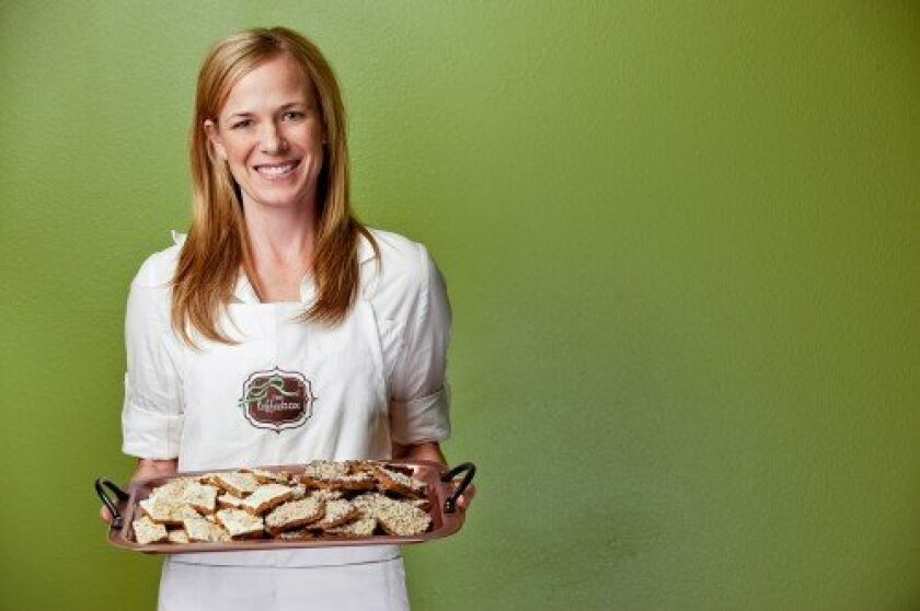 Rancho Santa Fe's Heather Mubarak is the owner of The Toffee Box. Her candy will soon be carried by Williams-Sonoma.