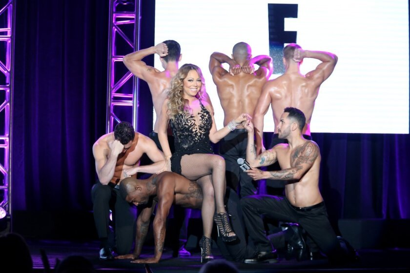 "Mariah Carey speaks onstage at the ""Mariah's World"" panel discussion during the NBCUniversal portion of the 2016 Television Critics Assn. Summer Tour on Wednesday in Beverly Hills."