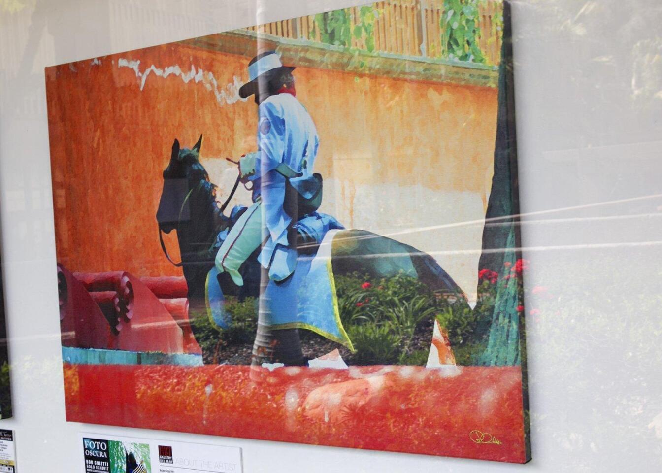 """Cevallo Soldado"" by Bob Coletti on display at the HBT Gallery in Del Mar"