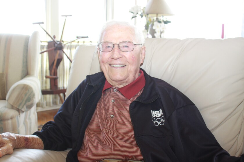 Soon-to-be-centenarian and La Jolla resident Louis Gessay