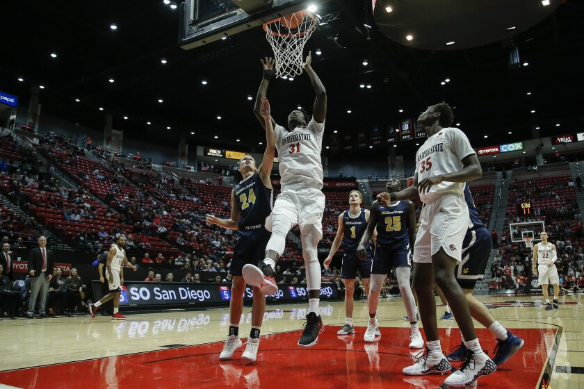 Sdsu Looks Sharp In Rout Of Div Ii Ucsd In Basketball