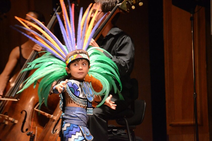 """Dante Aguilar performs with Mexi'cayotl, one of 18 groups featured with the San Diego Symphony in """"Your Song, Your Story."""" Photo: Pat Rice"""