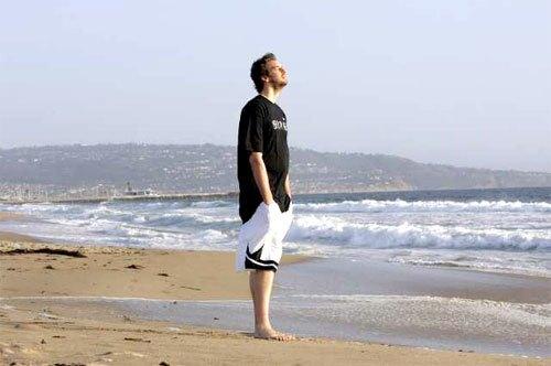 Pau Gasol at beach
