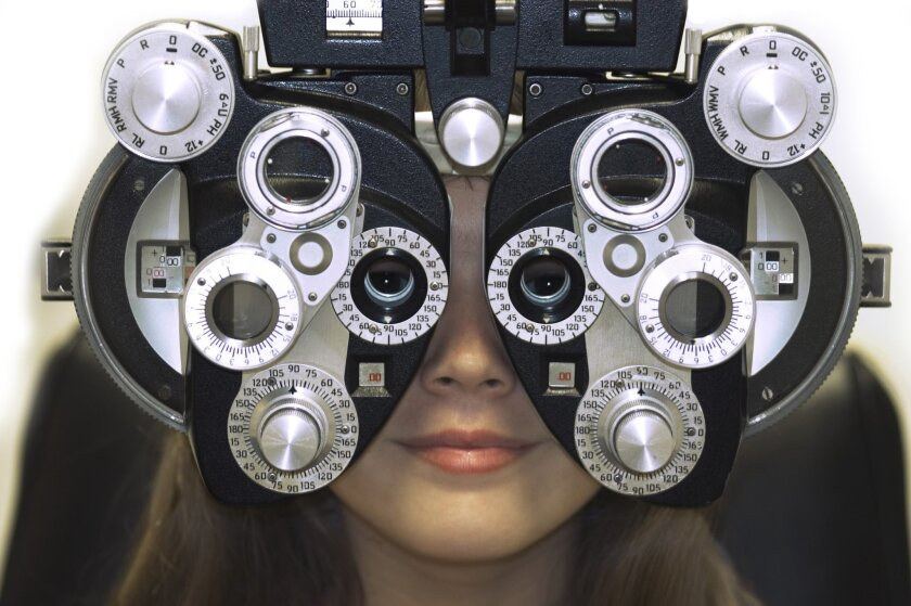 An eye exam.