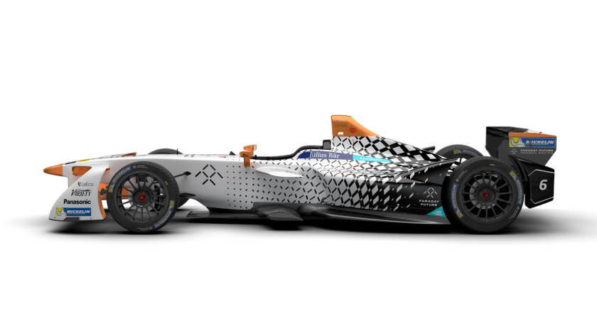 Faraday Future Dragon Racing Formula E car with Italy-inspired graphics