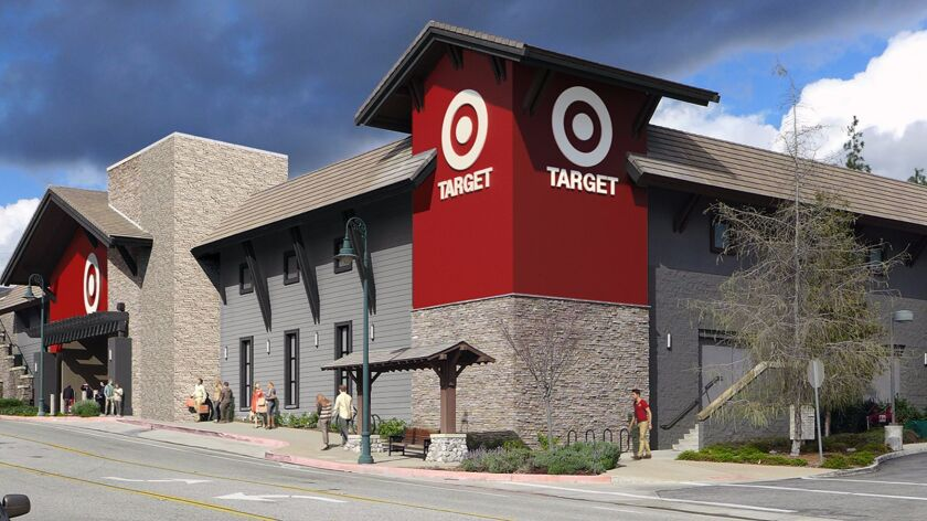 "A rendering of a 45,865-square-foot ""small-format"" Target retail store being planned for La Cana"