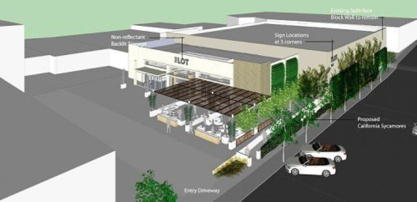 Artist's rendering for the proposed Boffo Cinemas/The Lot on Fay Avenue.  Courtesy