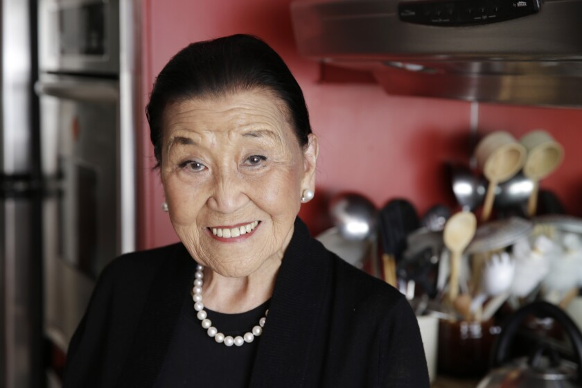 Cecilia Chiang poses in the kitchen of her home in San Francisco in 2014.